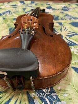 14.8 Old ANTIQUE 4/4 French Viola C. Flambeau Vintage 200 Years Old