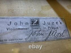 15.3 inches Old Antique 4/4 Czech Viola John Juzek vintage