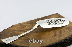 1835 Antique Silver Fish Slice Server by William Knight II Heavy 5 troy oz CREST