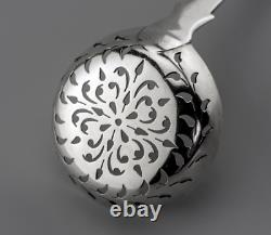 1856 ELIZABETH EATON Fiddle STERLING SILVER Sugar Sifter spoon 1.33 troy oz
