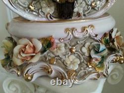 28 Antique Vintage Capodimonte Made In Italy Stunning Violin Huge Masterpiece