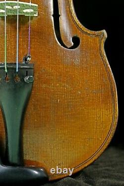 4/4 Full size Antique OLD German HOPF Violin-LISTEN TO THE VIDEO