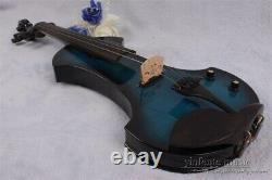 5string 4/4 Electric violin Big Jack Nice sound Solid wood Violin Case Bow #EV19
