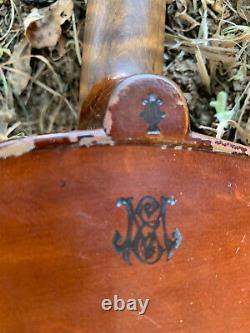 Antique Vintage E Martin 4/4 Amati Violin Copy Germany w Two Bows