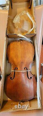 Antique, Vintage, Old German Unlabeled Violin. #10