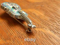 Antique Violin Italy Micro Mosaic Sterling Silver Pin Brooch