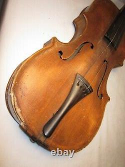 As-is parts / repair vintage antique HOPF violin Czechoslovakia Artistie bow +