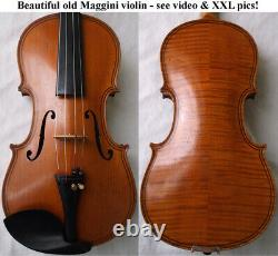 BEAUTIFUL OLD GERMAN MAGGINI VIOLIN see video RARE ANTIQUE 153