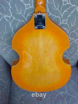 C. 1967 Vintage Japanese Violin-Body Beatle Bass guitar