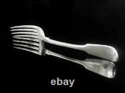Crested Sterling Silver Table Dinner Fork, Thomas Wilkes Barker, London 1826
