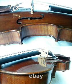FINE OLD FRENCH MASTER VIOLIN D NICOLAS d'AINE -video- ANTIQUE 344