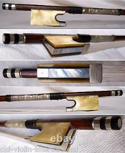 FINE OLD GERMAN MASTER VIOLIN BOW C. A. HOYER rare antique geigenbogen