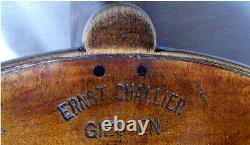 FINE OLD GERMAN MASTER VIOLIN CHALLIER video ANTIQUE 570