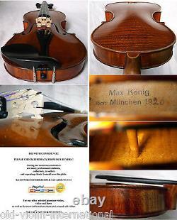 FINE OLD GERMAN MASTER VIOLIN MAX KOENIG 1926 video ANTIQUE 905