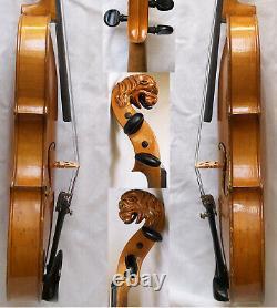 Fine Old Lionhead Violin Video Antique Rare Lion Head 250