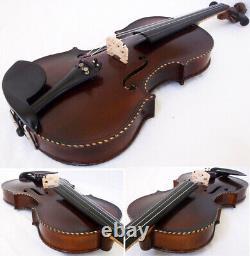 Fine Old Lionhead Violin Video Antique Rare Lion Head 293