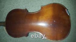 Full Size Vintage Antique Old Violin Size 4/4 Labeled Made In France