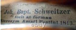 GOOD OLD GERMAN VIOLIN see VIDEO FINE ANTIQUE RARE VIOLINO 218
