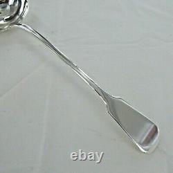 Good Sterling Silver Antique Fiddle Back Soup Ladle, London 1819
