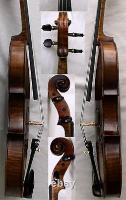 INTERESTING OLD 4/4 VIOLIN see video ANTIQUE fine Violino 581