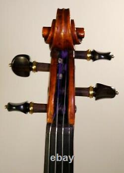 LISTEN the VIDEO! Old late19th century Antique German violin, Full, deep tone