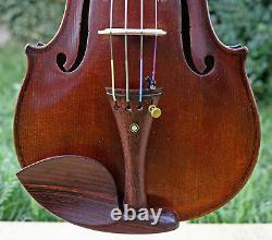 LISTEN to the VIDEO! 4/4 VERY FINE OLD BOHEMIAN VIOLIN, c. 1910
