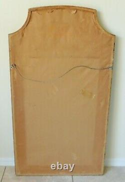 Large Antique/Vtg 45 Gold Wood Syroco Instrument Violin Hanging Wall Mirror