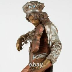 Lulli Enfant, 20 Antique Statue of Jean-Baptiste Lully with Violin by Gaudez