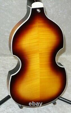 NEW! Vintage Brand VVB4SB Violin BEATLES bass guitar with case