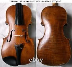 OLD AUTHENTIC 1800s HOPF VIOLIN VIDEO ANTIQUE Violino 088