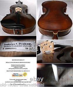 OLD CZECH VIOLIN PROKOP 1932 see VIDEO ANTIQUE violino 876