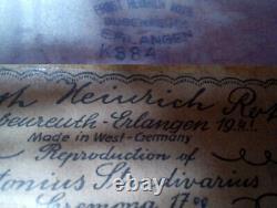 OLD GERMAN MASTER VIOLIN E. H. ROTH 1961 video ANTIQUE 327