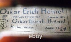 OLD GERMAN MASTER VIOLIN Heinel 1921 -see video ANTIQUE RARE 219