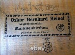 OLD GERMAN MASTER VIOLIN Heinel 1930 -see video ANTIQUE RARE 434