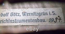 OLD GERMAN MASTER VIOLIN RUDOLF GOETZ 1934 video ANTIQUE 252