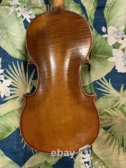 Old ANTIQUE 4/4 French Violin J Barbe Vintage c. 1880