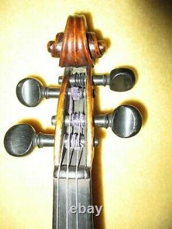 Old Antique 1780 Vintage Grafted Neck Italian Label 4/4 Violin-Reduced4FastSale
