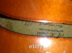 Old Antique Vintage Violin authentic made in 1981
