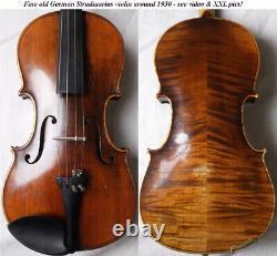 Old German Stradiuarius Violin 1920 /30 Video Antique Rare 310