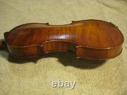 Old Vintage Antique 1 Pc Quilted Maple Back Full Size Violin