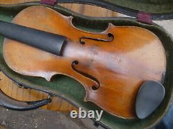 Old Vintage German Violin 4/4 Antique beautiful flame Stradavarius COPY