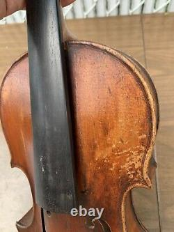 Old Vintage German Violin 4/4 Antique beautiful flamed One pc back