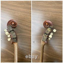 Old Vintage Violin 4/4 Antique One pc back Metal Pegs