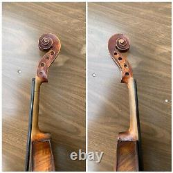 Old Vintage Violin 4/4 Antique beautiful flamed One pc back unlabeled