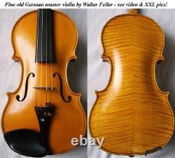 RARE OLD GERMAN VIOLIN Walter Feiler VIDEO ANTIQUE MASTER 202