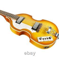 Rogue VB100LH Left-Handed Violin Bass Guitar Vintage Sunburst