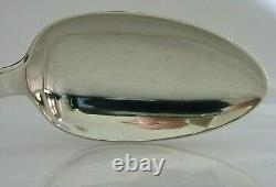 STUNNING ENGLISH GEORGIAN SOLID STERLING SILVER BASTING SPOON 1836 ANTIQUE 130g