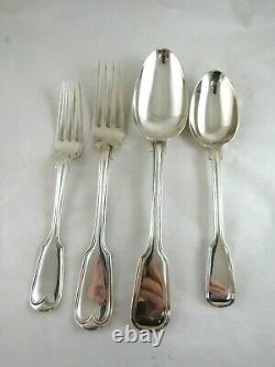 Silver Half Canteen Cutlery FIDDLE & THREAD Hallmarked- LONDON 1828, 1856 &186