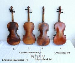 Special Offer! 4psc old violins! Four Antique/Vintage violins. No Repairs