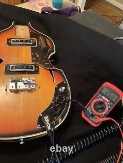 Teisco Kawai Kimberly Vintage Hollow Body Violin Bass Project Make An Offer